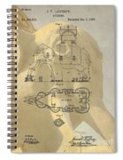 Lucy The Elephant Building Patent Spiral Notebook