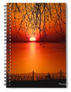 Ludington Sunset April 2016 Spiral Notebook
