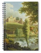 Ludlow Castle With Dinham Weir Spiral Notebook