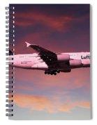 Lufthansa Airbus A380 D-aimh Spiral Notebook