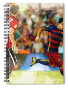 Luis Suarez Takes The Ball Past Athletic Bilbao's Eneko Boveda A Spiral Notebook