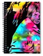 Luke Skywalker Paint Splatter Spiral Notebook