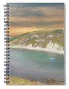 Lulworth Cove Panorama Spiral Notebook