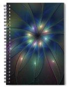 Luminous Fractal Art Spiral Notebook