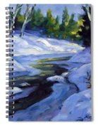 Luminous Snow Spiral Notebook