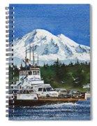 Lummi Island Ferry And Mt Baker Spiral Notebook