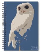 Luna The Rescued White Leucistic Eastern Screech Owl Abstracted Spiral Notebook