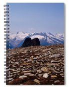 Lunar Landscape In The Mountains Spiral Notebook