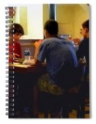 Lunch At The Cafe Downtown Spiral Notebook