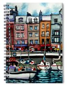 Lunch At The Harbor Spiral Notebook