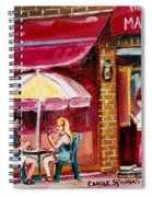 Lunch At The Mazurka Spiral Notebook