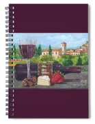 Lunch In Provence Spiral Notebook