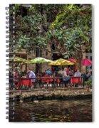 Lunch On The Riverwalk Spiral Notebook