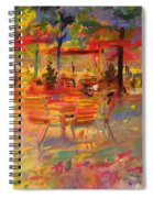 Lunch On The Terrace Spiral Notebook