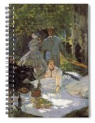 Luncheon On The Grass, Centre Panel Spiral Notebook