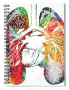 Lungs And Heart Spiral Notebook