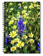 Lupine Amidst Tidy Tips Spiral Notebook