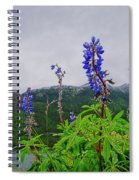 Lupine And Mountains Spiral Notebook