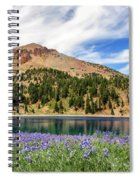 Lupines Lake And Lassen Spiral Notebook
