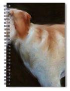 Lurcher Portrait  Spiral Notebook