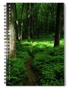Lush Green At 2 Spiral Notebook