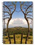 Lush Land Leafless Trees IIi Spiral Notebook