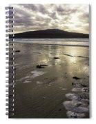 Luskentyre Beach Sunset Spiral Notebook
