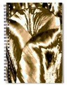 Lustrous Golden Tulip Spiral Notebook