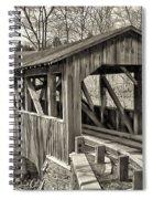 Luther Mills Bridge In Monochrome Spiral Notebook