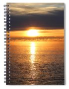 Lutsen Shore Sunrise Two Spiral Notebook