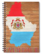Luxembourg Rustic Map On Wood Spiral Notebook