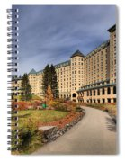 Luxurious Chateau Lake Louise Spiral Notebook