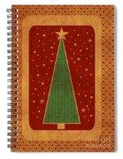 Luxurious Christmas Card Spiral Notebook