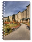 Luxury Chateau Lake Louise Spiral Notebook