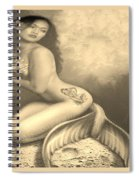 Lydia The Tattooed Mermaid In Sepia Spiral Notebook