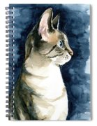 Lynx Point Cat Portrait Spiral Notebook