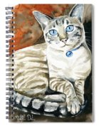 Lynx Point Siamese Cat Painting Spiral Notebook
