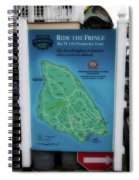 M 185 Ride The Fringe Signage Mackinac Island Michigan Vertical Spiral Notebook