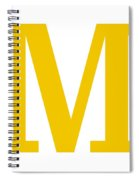 M In Mustard Typewriter Style Spiral Notebook