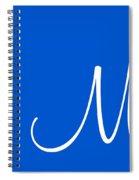 M In White Simple Script Spiral Notebook