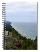 M22 Scenic Lake Michigan Overlook  Spiral Notebook