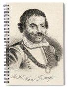 Maarten Harpertszoon Tromp 1598 - 1653 Spiral Notebook