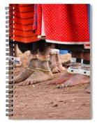 Maasai Feet Spiral Notebook