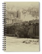 Mabel's Courtyard As Antique Print Spiral Notebook