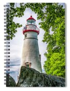 Mablehead Light From The Rocks Spiral Notebook