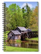 Mabry Mill In The Springtime On The Blue Ridge Parkway  Spiral Notebook