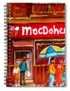 Macdohertys Icecream Parlor Spiral Notebook