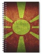 Macedonia Distressed Flag Dehner Spiral Notebook