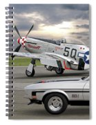 Mach 1 Mustang With P51  Spiral Notebook
