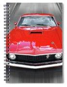 Mach1 Mustang 1969 Head On Spiral Notebook